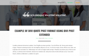 Divi Post Extended